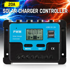 12/24V 20A Solar Panel Battery Regulator Charge Controller Auto PWM USB LCD