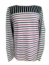 Cotton Collarless Striped Tops & Shirts for Women