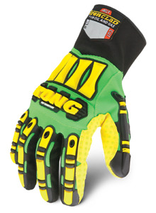 KONG CUT 5 Palm Impact SDXC Ironclad Oil & Gas Work Gloves Green/Yell     #P2