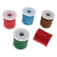 100 Yards 1mm Waxed Cotton Cord Woven Bracelet Jewelry Beading Braided String