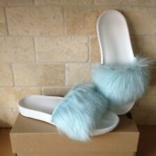 UGG Royale Baby Blue Toscana Fluffie Slide Slippers Sandals Size US 10 Womens
