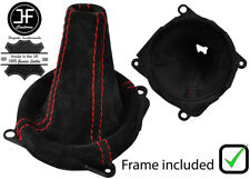 RED STITCH SUEDE SHIFT BOOT+PLASTIC FRAME FOR MITSUBISHI LANCER EVO 7 8 9