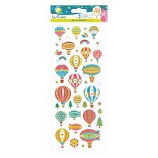 Basteln Planet lustig Sticker - Heißluftballons für Karten und Handarbeiten