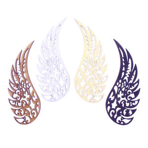 2 pairs Decorative Angel Wings - each wing is 10cm Tall 3mm MDF Wood Laser Cut
