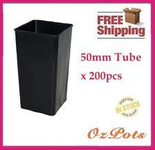 Plastic Tube Pots Square 50mm x 200pcs - Propagation, Seedling, Cuttings (PC)
