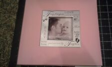 MBI Baby Pink words scrapbook album -  8x8  little one girl w frame - Crease