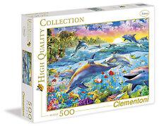 Puzzle 500 teile Delphine Im Paradies Clementoni 30170 Delfine