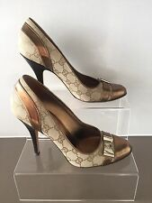 Gucci Duchessa gg monogram shoes UK size 4.5 (37.5) worn once With Box