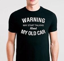 """Classic Vintage Voiture Drôle T Shirt adapté vieille voiture pilotes propriétaires """"avertissement"""""""