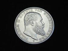 Fast unzirkulierte 2 Mark Silbermünzen aus dem Deutschen Kaiserreich