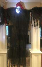 New Scary Huge 7 Foot Creepy Reaper Skeleton Halloween Haunted House Prop Decor