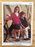 Children'sKnitting patterns.waistcoat. cardigan.sirdar.snuggly.DK.sizes 22-30inc