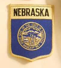 "Nebraska Patch - State Flag - Travel Souvenir - 2 7/8"" x 3 5/8"""