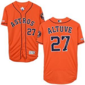 JOSE ALTUVE Autographed Houston Astros Authentic Orange Jersey FANATICS