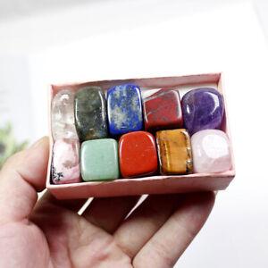 10PCS/Box Natural Chakra Healing Stone Polishing Quartz Yoga Reiki Gift
