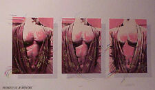 """Jon Reich Art Gallery """"Timeless Vestment"""" Screen Print  male chest gay subject ."""