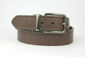 """Reversible Double Sided PU Belt Brown Black Sides Size M 34""""-36"""""""