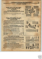 1922 PAPER AD 10 PG Stanley Siegley Bailey Tools Planes Bartlett's Horn Handle