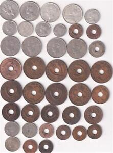40 DIFFERENT BRITISH EAST AFRICA COINS 1906-1959 INCLUDES MUCH SILVER, L1