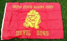 United States Marines Devil Dogs 3'x5' Flag , Wall Hanging Bar, Man Cave