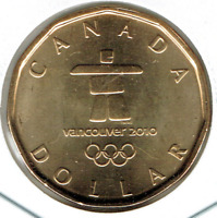 2010 Canadian Commemorative Brilliant Uncirculated Olympic $1 Loonie!
