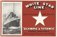 White Star Line Olympic and Titanic Linen Union Tea Towel by Lamont