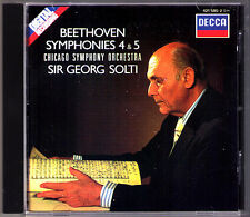 Sir Georg SOLTI: BEETHOVEN Symphony No.4 & 5 DECCA 1988 CD Chicago Orchestra