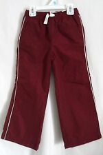BOYS 14 WINE LINED DRAWSTRING ATHLETIC SWEAT PANTS NWT ~ THE CHILDREN'S PLACE