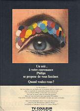 PUBLICITE  1970   PHILIPS  téléviseur couleur