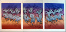 "Guillaume Azoulay ""Dixhuit Chevaux"" Suite of 3 Signed & Numbered Artworks, L@@K"