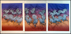 """Guillaume Azoulay """"Dixhuit Chevaux"""" Suite of 3 Signed & Numbered Artworks, L@@K"""