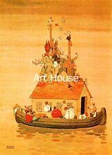 "Heath Robinson ""Spring cleaning Noah's ark"" 30x24cm 1107"