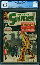 TALES OF SUSPENSE #43 CGC 3.5 5th Iron Man App! 1st Kala!