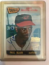 2002 Team Topps Legend Paul Blair Auto 1965 Rookie Reprint Orioles #TT-PB