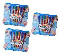 18 X GLITTER TATTOO GEL PENS & STENCIL TEMPORARY KIT FAKE KIDS FUN TATTOOS PARTY