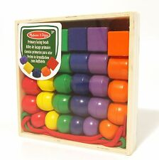 Wooden Lacing Beads Primary Colours for Threading Sorting Melissa and Doug 3+