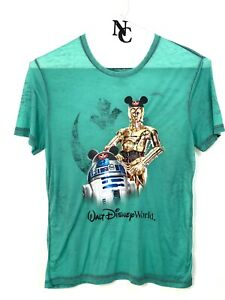 Disney Parks Authentic Start Wars Men's Green T-shirt size Large SE100789