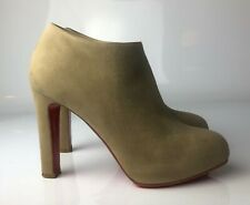 62a054c2571 Christian Louboutin Vicky 120 Gray Suede Ankle Boots Booties Euro 35
