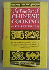 Vintage 1962 Fine Art Chinese Cooking Dr Lee Su Jan Asia Cookbook Mongolia Tibet