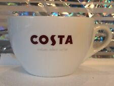 Costa Italian About Coffee Large Coffee Latte Mug White Ceramic Cup