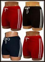 Boys Girls Gym School Sports Shorts Stripes hot pants 98 170 Cotton Navy Pink PE