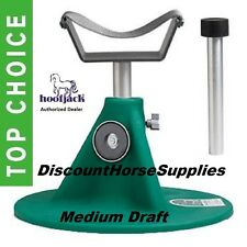 Medium Draft Hoofjack by Equine Innovations Hoof Jack Green Farrier Stand w/ DVD