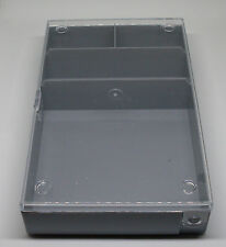 Sortimentkasten - Maße 164 x 101 x 31 mm - 4 Fächer - grau - Sortierkasten - Neu