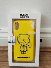 Karl Lagerfeld Designer Yellow iPhone X/XS Case New