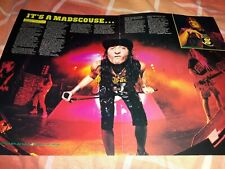 Anthrax / Testament A3 poster / live review 1987 Kerrang
