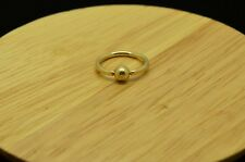 Navel Belly Septum Hoop #X10-1915 10K Yellow Gold Captive Bead Ring