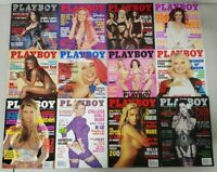 Playboy Magazines 2002 - 12 Issues Complete Year - Centerfolds Intact - Nude Lot