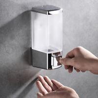 Liquid Shampoo Dispenser Wall Mounted 500ml Plastic Soap Pump Bathroom Decor New