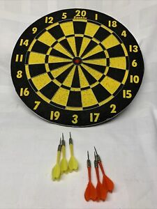 """Vintage Franklin Standard Bristle Dart Board 17"""" Game With 2 Dart Set ."""