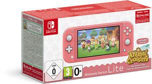 NINTENDO Switch Lite Koralle Spielekonsole inkl. Animal Crossing NEU